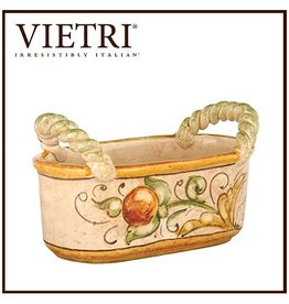 Vietri Affresco Dinnerware AFO-3287 Affresco Handled Basket