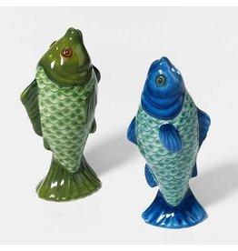 Department 56 Ceramic Fish Salt and Pepper Shakers Set
