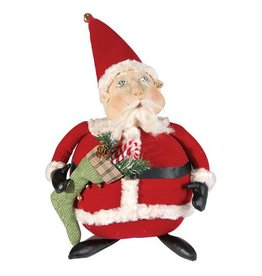 Gallerie II Joe Spencer Gathered Traditions Collection Albert Santa Figure FGS69448 Joe Spencer Christmas Decorations