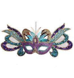 Kurt Adler Carivel Mask Christmas Ornament Multi Color w Purple Eyes TD1462-B