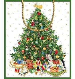 Caspari Gift Bags  9664B7 Oh Christmas Tree Gift Bag LG
