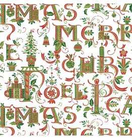 Caspari Christmas Wrapping Paper Roll 8ft 9652RC Illuminated Christmas
