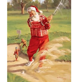 Tom Browning Collection Christmas Cards Golfing Santa Collection Set of 15