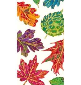 Caspari Guest Napkins 15pk Caspari 12880G Fall Leaves Jeweled Autumn Ivory