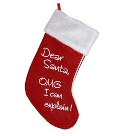 Kurt Adler Christmas Stocking Dear Santa OMG I Can Explain C9609-C Kurt Adler