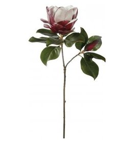 Winward Silk Flowers Artificial 95075.BU Magnolia X2-Burgundy