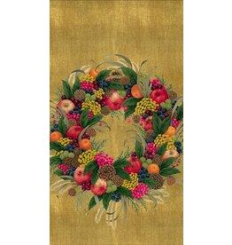 Caspari Christmas Guest Napkins 15pk Caspari 8261G Karens Wreath