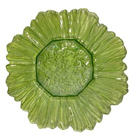 Point a La Ligne Sun Glass Candle Plate 11.75D Apple Green