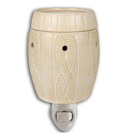 Boulevard Wax Melts Fragrance Warmer Plug-In Ivory Cableknit