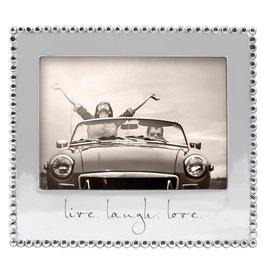 Mariposa Photo Frame Engraved w Live Laugh Love 5x7 Photo 3911LL