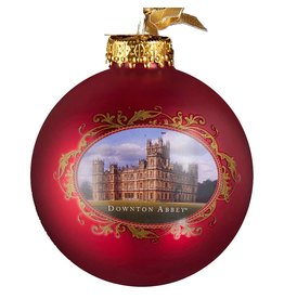 Kurt Adler Downton Abbey Red Castle Glass Ball Christmas Ornament DA4137