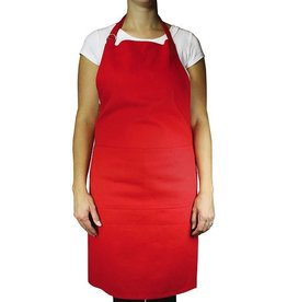 MUkitchen Cotton Twill Chef Apron - Crimson