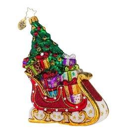 Christopher Radko Christmas Ornaments 1018136 Serendipity Sleigh