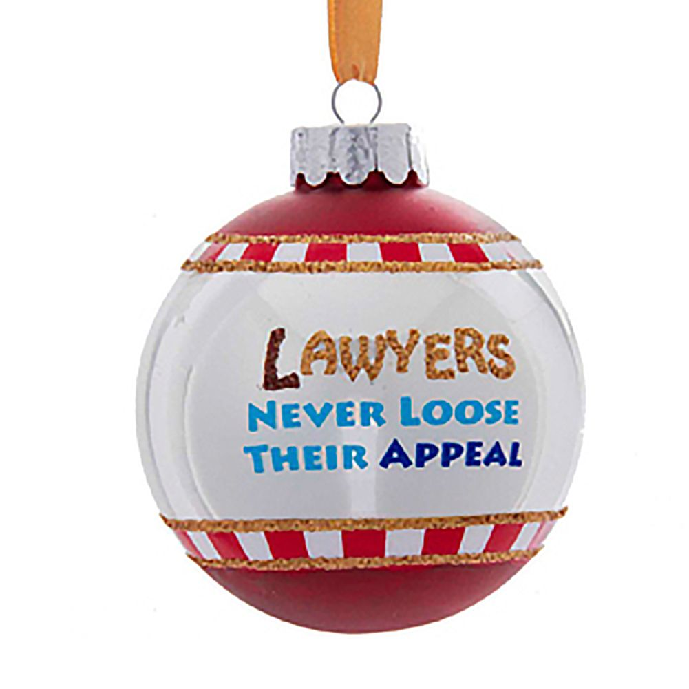 kurt adler christmas ornament lawyers never loose their appeal