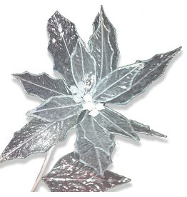 North Star Premier Christmas Flowers Floral Clear Irridescent Poinsettia 28L