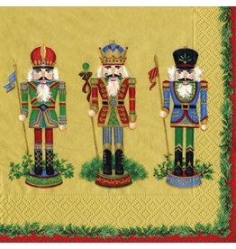 Caspari Paper Dinner Napkins Christmas 11381D Nutcracker Suite 20pk GD