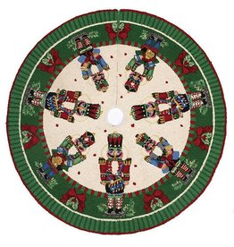 Peking Handicraft Christmas Tree Skirt 52in Nutcrackers Melody Hook Tree Skirt