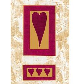 Caspari Valentine's Day Card Husband 82404.14  Red Hearts Valentine Card