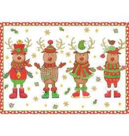Caspari Boxed Christmas Cards 16pk Sweater Party 84107