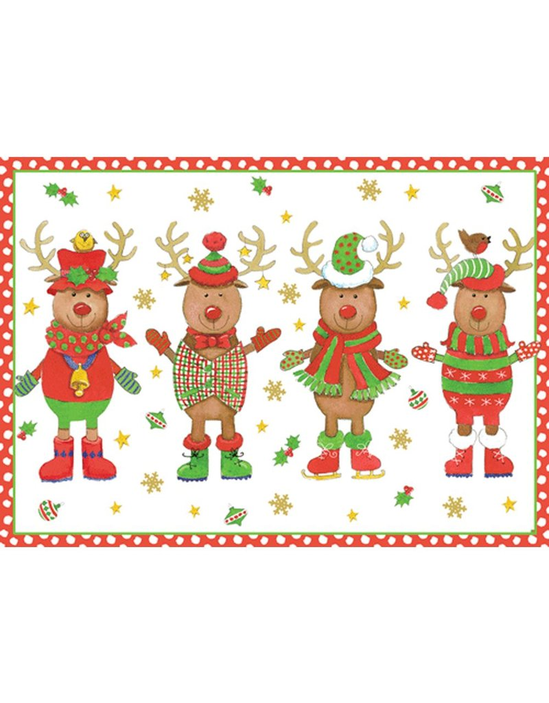 Caspari Boxed Christmas Cards 16pk Sweater Party 84107 - Digs N Gifts