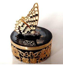 Kenneth Jay Lane Enamel Side View Butterfly Jewelry Box