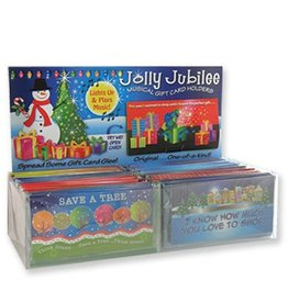 DM Merchandising Holiday Gift Card Holder w Flashing Lights and Plays Holiday Music