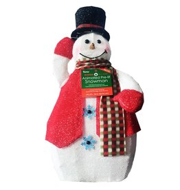 Darice Animated Pre-Lit Tipping Hat Snowman 24 inch 2515-903-A Indoor Outdoor