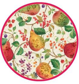 Caspari Holiday Paper Salad-Dessert Plates 8pk 12100SP Decorated Pears