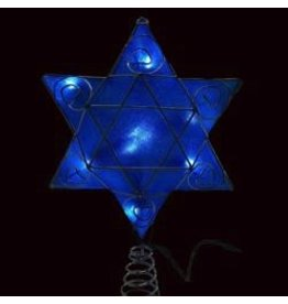 Kurt Adler Hanukkah Shimmer Star of David Tree Topper UL4303 Kurt Adler