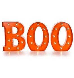 Darice LED Light Up Metal BOO Marquee by Darice Halloween Decorations Decor