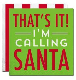 Slant Christmas Cocktail Napkins 20ct Im Calling Santa F155296 Slant