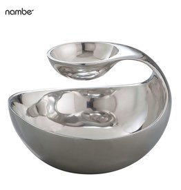 Nambe Scoop Server 11Dx8H MT0253 Metal Dip Bowl Server