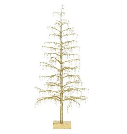 Mark Roberts Christmas Decorations Gold w Crystals Beads Tree 28 Inch