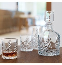 Nachtmann Sculpture Crystal Decanter w Tumblers Barware Set of 3