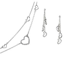 Annaleece Necklace w Earrings Set New Love Hearts 7030-0 Annaleece by DeVries