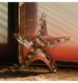 Kalalou Hanging Glass StarfIsh Ornament 5 inch