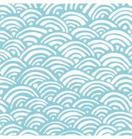 Caspari Gift Wrapping Paper 89460RSC Lulus Rainbow Aqua 5ft Roll