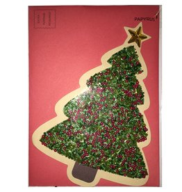 Papyrus Greetings Christmas Card Colorful Gem Tree by Papyrus
