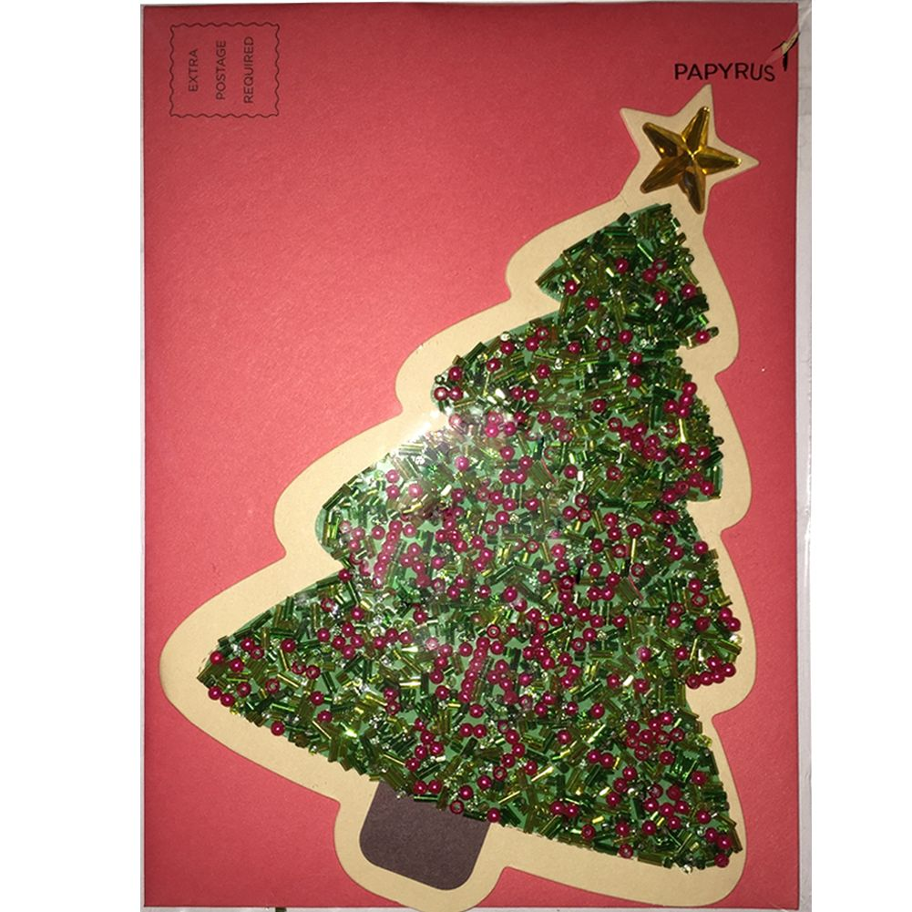 papyrus greetings christmas card colorful gem tree by papyrus - Papyrus Holiday Cards
