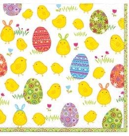Caspari Paper Napkins 11730L Peep Chicks Easter Lunch Napkins