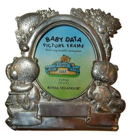 Royal Selangor Baby Data Picture Frame w Engravable Nameplate