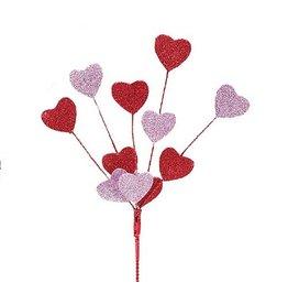 Burton and Burton Floral Picks Sprays Valentines Decor Red Pink Hearts Spray Pick