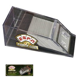 ESPN Poker Club Card Games 4-Deck Acrylic Dealer Shoe 20040 ESPN Poker Club