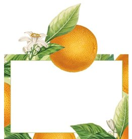 Caspari Place Cards Caspari 85907P Orangerie Orange w Blossom Die Cut 8pk