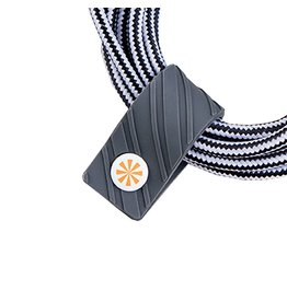 TECH Candy Cord Keeper Cable Taming Cord Wrap Pepper Gray