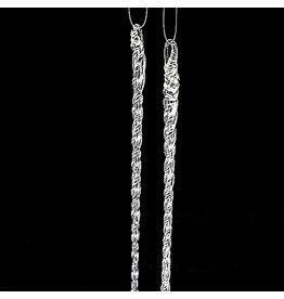 Kurt Adler Christmas Glass Icicles Ornaments 5.5L Set of 12