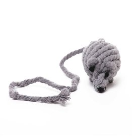 Harry Barker Grey Cotton Rope Mouse Toy 03-243-25