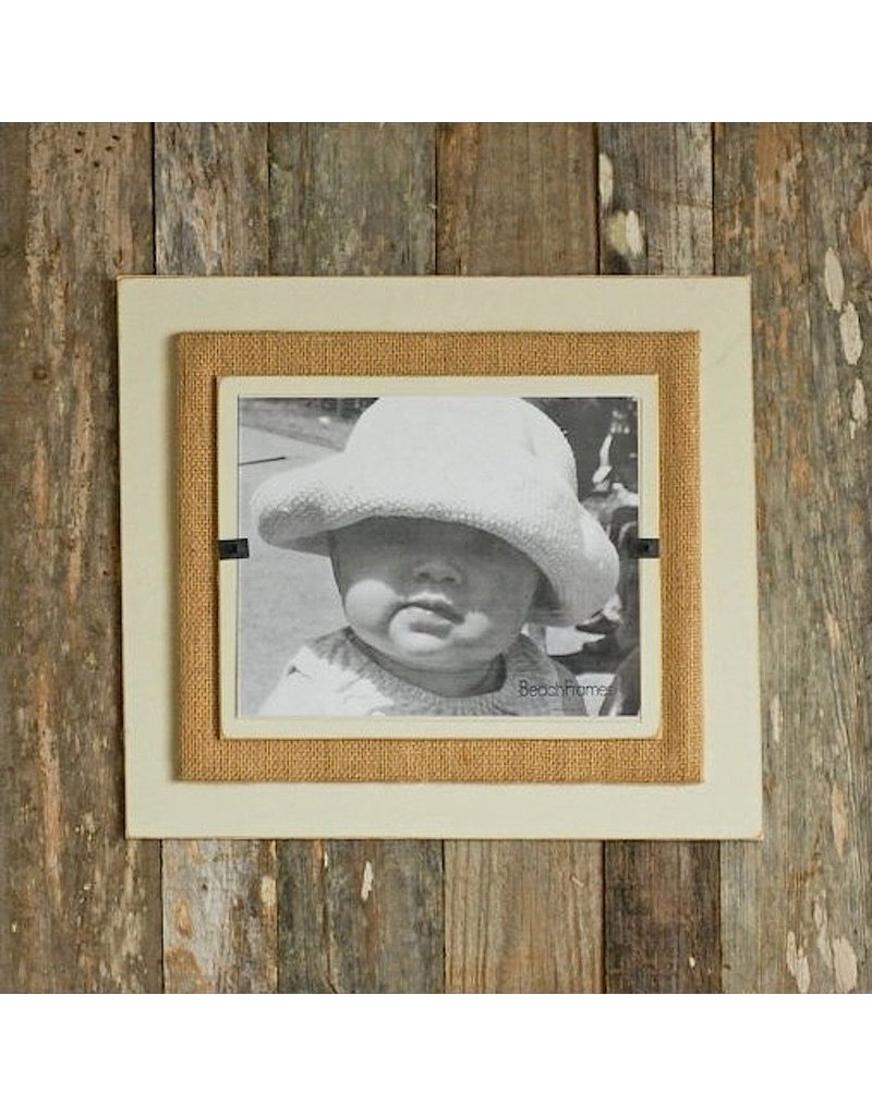 Beach Frames Reclaimed Wood w Burlap Wall Art Rustc Beach Picture Frame 22x22