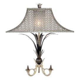 Luna Bella Designs Table Lamp w Geo Mesh Shade