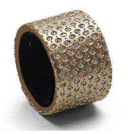 Harman Diamonds Napkin Ring Set of 4 Gold 2808015 Harman
